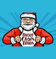 Merry christmas greeting card santa claus