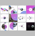 minimal brochure templates colorful circles round vector image
