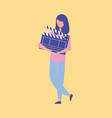 movie people production vector image vector image