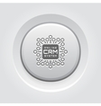 Online CRM System Icon vector image vector image