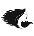 profile a girl with beautiful hair vector image vector image