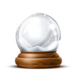 realistic christmas snowglobe 3d winter toy vector image vector image