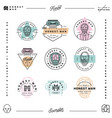 set honest man clothing company labels vector image
