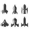 set of the rockets icons vector image vector image