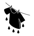 shirt drying icon simple style vector image vector image