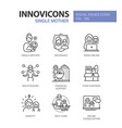 single mother - modern line design style icons set vector image