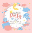 slumber party invitation banner template light vector image vector image