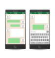 smartphone social network concept vector image vector image