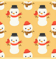 snowman editable line detailchristmas seamless vector image