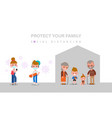social distancing elderly and child should stay vector image