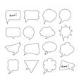 Speech Bubbles big hand drawn set vector image vector image