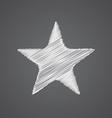 star sketch logo doodle icon vector image vector image