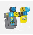 Start-up business concept in flat design style vector image vector image