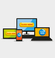 technology with click mouse pixel cursor vector image