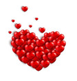 valentines background with a heart concept vector image vector image