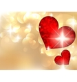 Valentines day with abstract hearts vector image vector image
