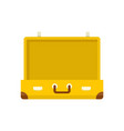 vintage suitcase icon flat style vector image vector image