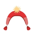 winter hat isolated cion vector image vector image