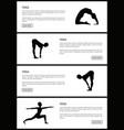 yoga female silhouettes set vector image vector image