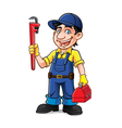 Cartoon Plumber Standing vector image