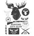 Set of vintage outdoors with a deer labels badges vector image