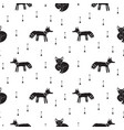 cute hipster tribal foxes seamless pattern vector image
