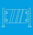 glass gate icon outline style vector image