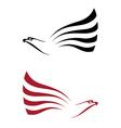 hawk for tattoo design vector image