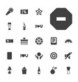 22 label icons vector image vector image
