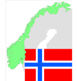 6134 norway map and flag vector image