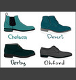 a set of shoes classical shoes eps 8 vector image vector image