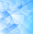 Abstract blue background of triangles vector image