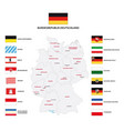 administrative map germany with flags vector image vector image