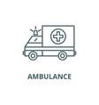 ambulance line icon ambulance outline vector image