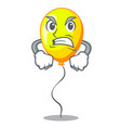 angry character yellow balloon ticket on holiday vector image