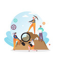 archaeological excavations concept for web vector image