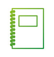 back to school notebook spiral cover close element vector image