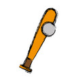 baseball bat and ball icon vector image vector image