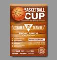 basketball poster basketball ball sport vector image vector image