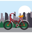 Bike city and healthy lifestyle design vector image