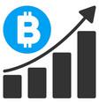 bitcoin bar chart trend flat icon vector image vector image