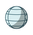blue shading silhouette of earth globe with vector image vector image