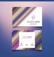 business card with striped design vector image vector image