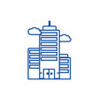 business skyscrapper line icon concept business vector image vector image