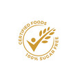 certified food people check grain oat leaf tick vector image vector image