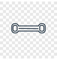 chest expander concept linear icon isolated on vector image vector image