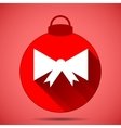 Christmas icon with the silhouette of a bow on vector image vector image