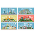 cityscape city landscape with urban vector image