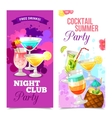 Cocktails Party Banners vector image vector image