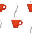 coffee or tea cup seamless pattern hot drink vector image vector image